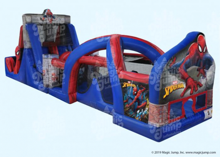 50ft Spider Man Obstacle Course