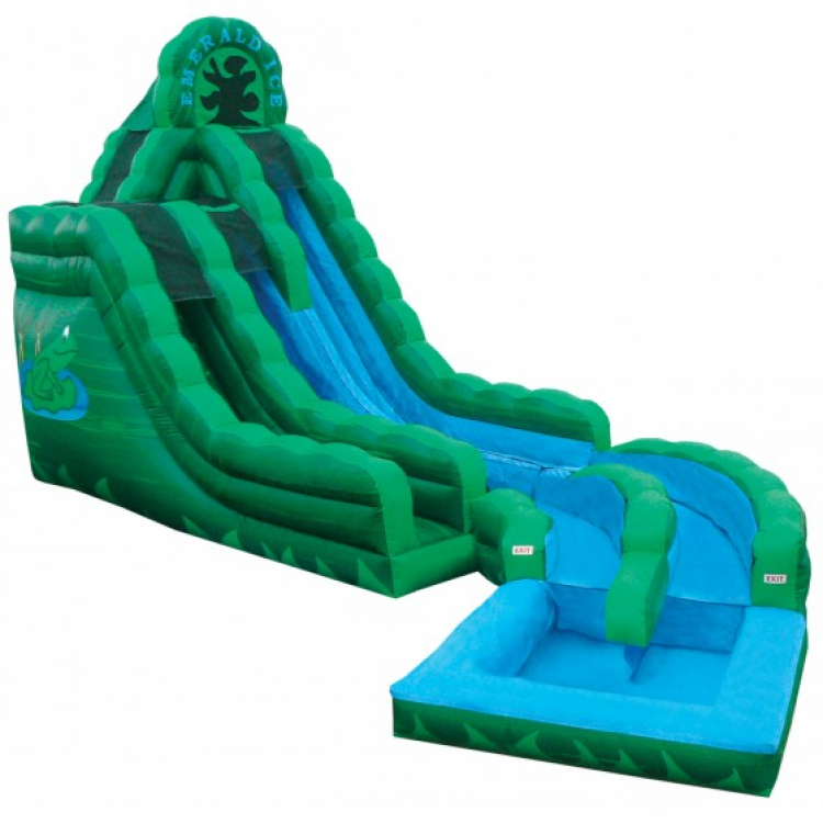20ft Emerald Ice Water Slide