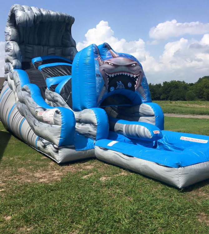 19ft Shark Tank Water Slide